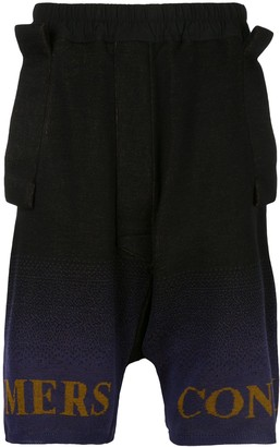 Bernhard Willhelm Mill knit shorts