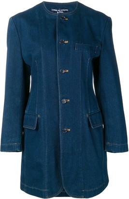 Comme Des Garçons Pre Owned 1980's Denim Midi Coat