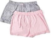 Rene Rofe Women's Sleep Bottoms ASSTFASH - Light Gray & Light Pink Stripe Twice As Nice Pajama Shorts Set - Women