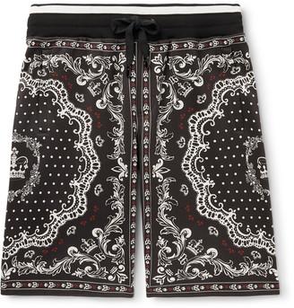 Dolce & Gabbana Bandana-Print Cotton-Jersey Drawstring Shorts