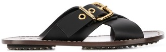 Marni Buckled Criss-Cross Sandals