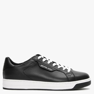 Michael Kors Keating Black Leather Lace Up Trainers
