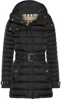 Burberry Hooded Quilted Shell Down Jacket - Black