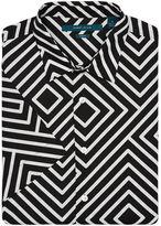 Perry Ellis Short Sleeve Maze Print Shirt