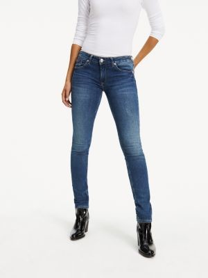 Tommy Hilfiger Faded Low Rise Skinny Fit Jeans