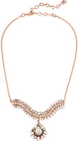 Erickson Beamon War Of Roses Rose Gold-plated Swarovski Crystal Necklace - one size