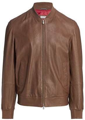 Brunello Cucinelli Soft Leather Bomber Jacket