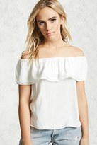 Forever 21 FOREVER 21+ Ruffled Off-The-Shoulder Top