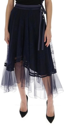 Chloé Belted Lace Skirt