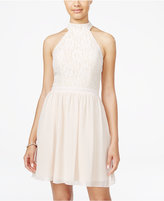 Speechless Juniors' Lace Chiffon A-Line Dress