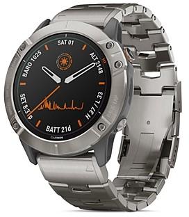 Garmin Fenix 6X Pro Solar Titanium Link Bracelet Smartwatch, 51mm