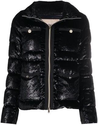 Herno Textured-Finish Multi-Pocket Puffer Jacket