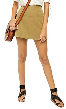 Free People Days in the Sun Faux-Suede Mini Skirt