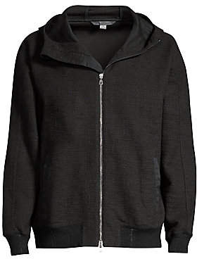 John Varvatos Men's Easy-Fit Hooded Zip Jacket