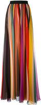 Elie Saab striped maxi skirt - women - Silk - 34