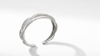 David Yurman Tides Three Row Cuff Bracelet With Diamonds