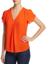 Daniel Rainn Tulip Sleeve Pleated Top