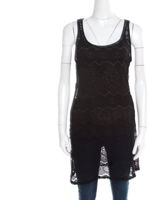 Ralph Lauren Black Cutout Lace Tank Top M