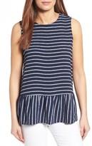 Petite Women's Halogen Stripe Top