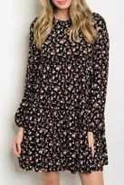 Sage Black Floral Dress