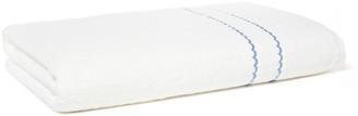 Hamburg House Double Scallop Bath Sheet - White/Blue