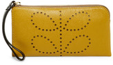 Orla Kiely Flat Zip Leather Wallet