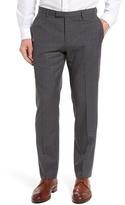HUGO BOSS Leenon Flat Front Plaid Wool Trousers