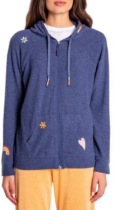 PJ Salvage Retro Revive Embroidered Zip Hoodie