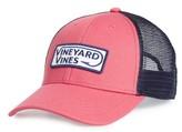 Vineyard Vines Men's Hook Patch Trucker Cap - Red