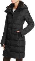S13/Nyc S13 NYC Quilted Faux Fur Trim Coat