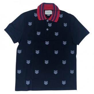 Gucci Navy Cotton Polo shirts
