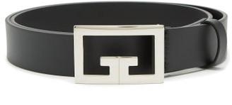 Givenchy Logo-buckle Leather Belt - Black