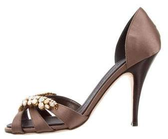 Giuseppe Zanotti Satin Jewel-Embellished Sandals