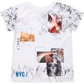 River Island Mini boys white collage print t-shirt