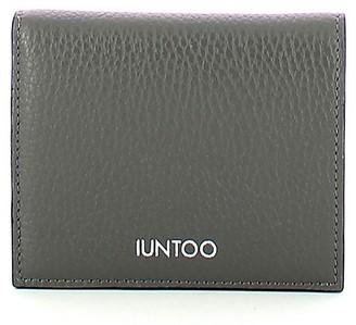 Iuntoo Gray Leather Armonia Bi-Fold Women's Wallet