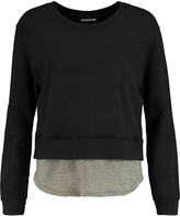 Monrow Layered cotton-blend jersey sweatshirt