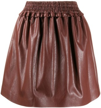 MSGM Leather-Look Mini Skirt