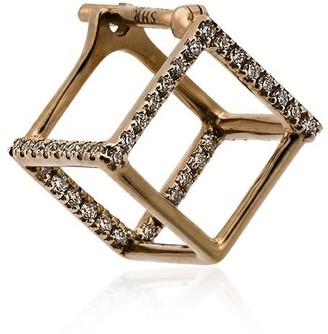 Shihara 18K yellow gold square earrings