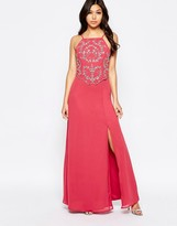 Maya Maxi Dress With Embellished Overlay