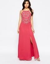 Maya Maxi Dress With Embellished Overlay