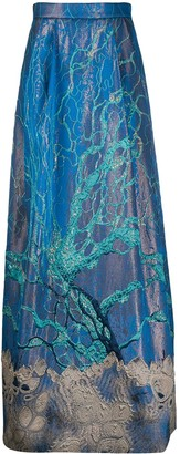 Alberta Ferretti Embroidered Maxi Skirt