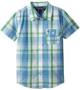 Tommy Hilfiger Short Sleeve Doug Yarn-Dye Shirt Boy's Clothing