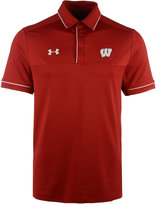 Under Armour Men's Wisconsin Badgers Podium Polo Shirt