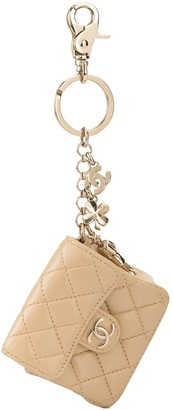 Chanel Pre Owned Quilted Bag Charm