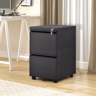 Inbox Zero 2-Drawer Vertical Filing Cabinet Color: Black