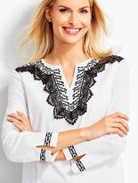 Talbots Lace & Embroidered Tunic