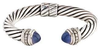 David Yurman Chalcedony & Diamond Cable Classics Bracelet