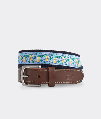 Vineyard Vines Mint Julep Canvas Club Belt