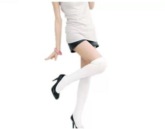 Its All Goods Over The Knee Sexy Cotton Compression Socks - White