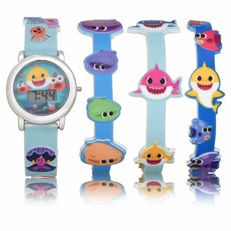 Baby Shark Kids' Quartz Watch with Plastic Strap
